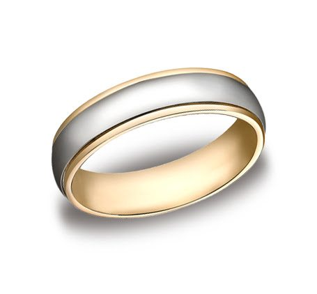 white and yellow gold wedding bands